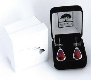 Koa wood drop earrings