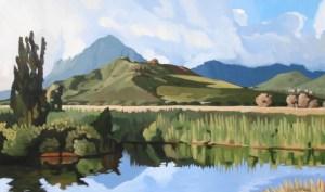 Morning Reflection Brenda Cablayan original 36x60