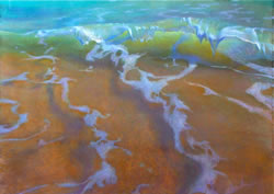 Perpetual Flow Diana Lehr original pastel and watercolor on paper 36 x 51""
