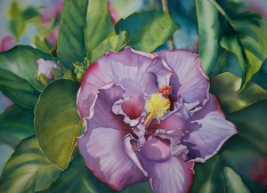 Colleen Sanchez original watercolor painting Mauve Dream