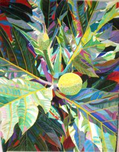 Fabienne Blanc Original Foster Garden Breadfruit 30 x 22