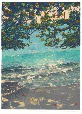 Russell Lowrey giclee Kahala Bay light