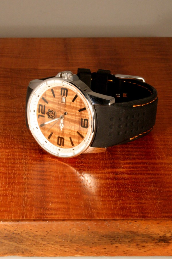 Surfrider Koa wood watch by Pono Woodworks
