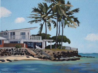 Brenda Cablayan original painting The Corner Unit 18 x 22