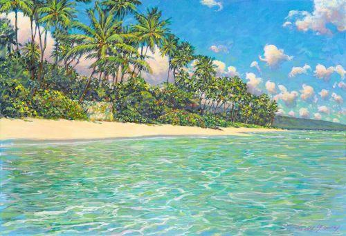 Kahala Beach by Russell Lowrey, Giclee Print, custom sizes