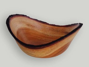 Tom Young 1649-314 -- NE -- mahogany with burned bark -- 6.75 x 3.25