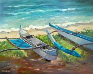 "Susie Anderson original oil painting Shady Ladies 24 x 30"""