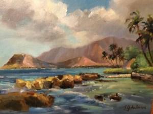 Susie Anderson original oil painting Secret Sparkle 14 x 18