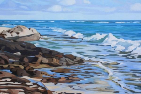 Brenda Cablayan original painting Leahi Tidepools ©24 x 36