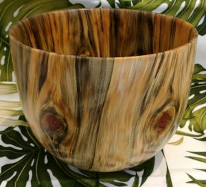 Carl Sherry Norfolk Island Pine bowl 8.5 x 8.5 x 7