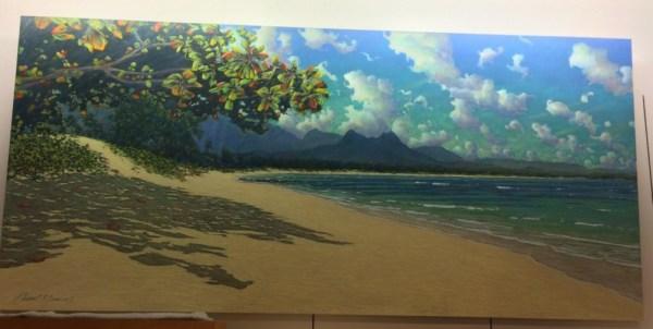 "Waimanalo Beach, a Russell Lowrey original 78x36"""