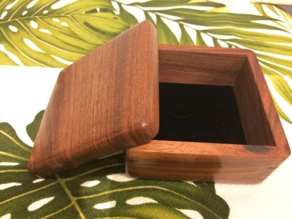 "Honolulu Woodworking Designs Koa Boxes 4x4x2.25"""