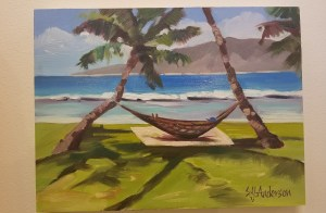 "Peaceful in Paradise by Susie Anderson 9"" x 12"""