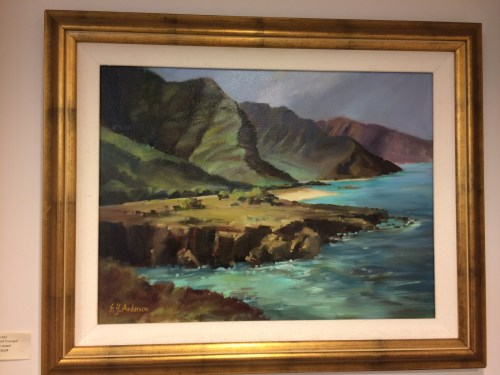 """Hawaii, Rugged, and Tranquil original oil by Susie Anderson 24"""" x 18"""""""