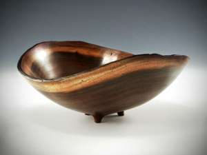 "Sharon Doughtie Milo Natural-edged Bowl w/ feet 7"" x 6.5"" x 5"""