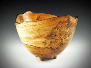 "Sharon Doughtie Mango Natural-edged bowl w/ feet 12"" x 9"""
