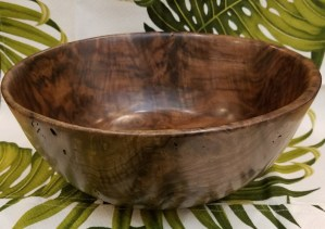 "Carl Sherry Claro Walnut Bowl 10.75"" x 4.5"""