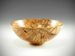 "Sharon Doughtie Spalted Mango bowl 3"" x 7.75"""