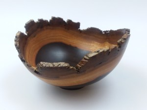 "Andy Cole Milo natural edge bowl 3"" x 6"""