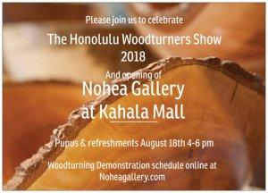 Honolulu Woodturner's Show 2018