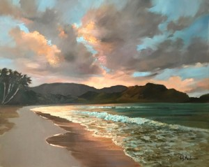 "Hanalei by Twilight original Susie Anderson 24"" x 30"""