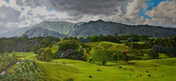 Kaiwaihau Evensong giclee by Gregory Pai