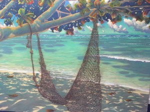 "Beach at Kualoa giclee on canvas by Russell Lowrey 48"" x 72"""