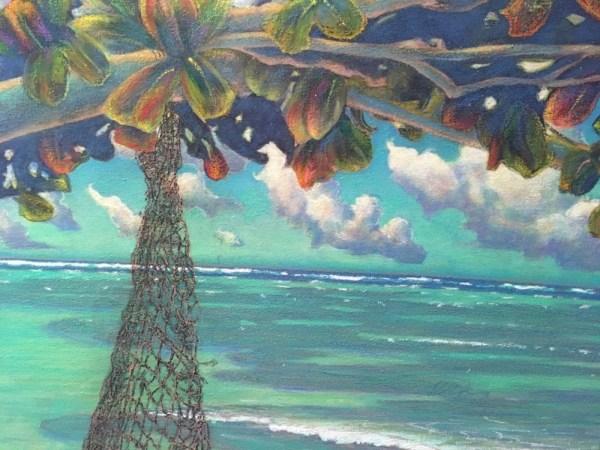 "Beach at Kualoa original by Russell Lowrey 48"" x 72"""