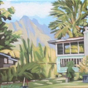 Brenda Cablayan original painting Waiahole Country 8 x 8