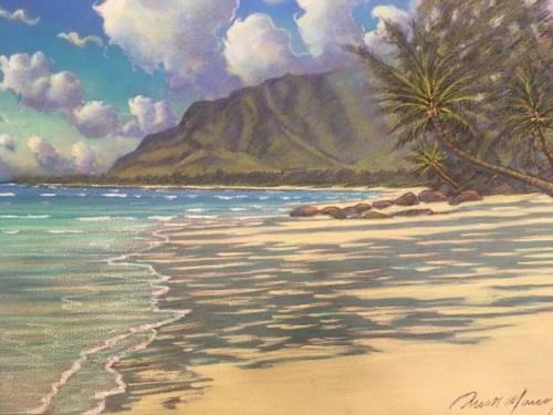 Punalu'u Afternoon original painting 24 x 30 Russell Lowrey