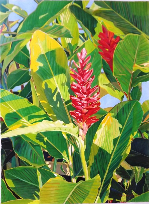 'Red Ginger' watercolor by Fabienne Blanc, Giclée Print, custom sizes