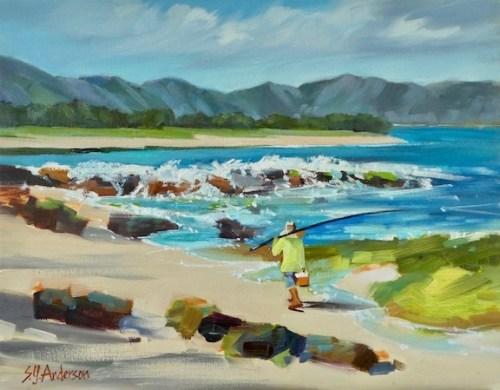 """'Shore Patrol' Original Oil Painting on Canvas 14""""x 18"""" by Susie Anderson $1400"""