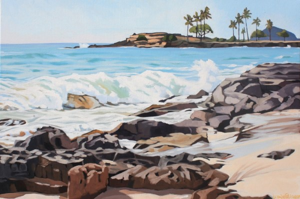 Brenda Cablayan painting Late Afternoon on the Waianae Coast 24 x 36