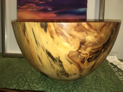 Norfolk pine bowl by Andy Cole 13 x 8 with dramatic spalting