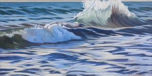 Brenda Cablayan Painting Morning Breakers 18 x 36
