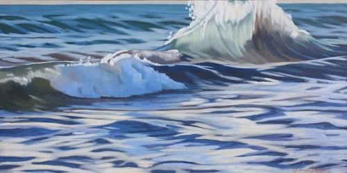 Brenda Cablayan Painting Morning Breakers 18 x 36
