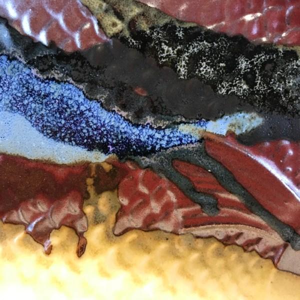 "Jeff Chang Earth Tone Stoneware Fish Dish 15""Lx10""W (representative)"