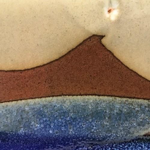"Jeff Chang Earth Tones Stoneware Plate 8""x8"" (representative)"