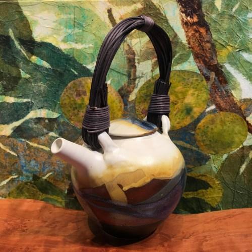 "Jeff Chang Earth Tones Stoneware Teapot 11""Hx8""Wx6""D (representative)"