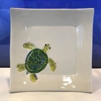 """Lorna Newlin Ceramic Honu Square 7""""x7"""""""