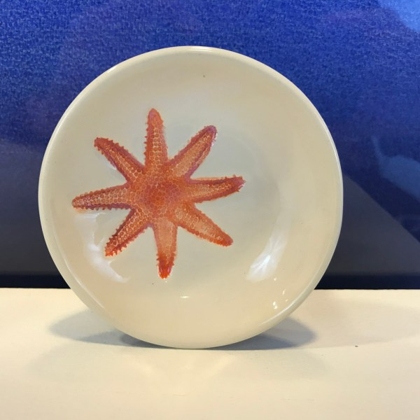 "Lorna Newlin Red Multi-Limb Starfish Dish 4"" Diameter (representative)"