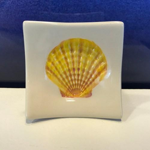"Lorna Newlin Yellow Shell Dish 2.5""x2.5"" (representative)"