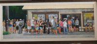 """Burton Uhr 'M. Matsumoto' Oil Painting 38""""x 14"""""""