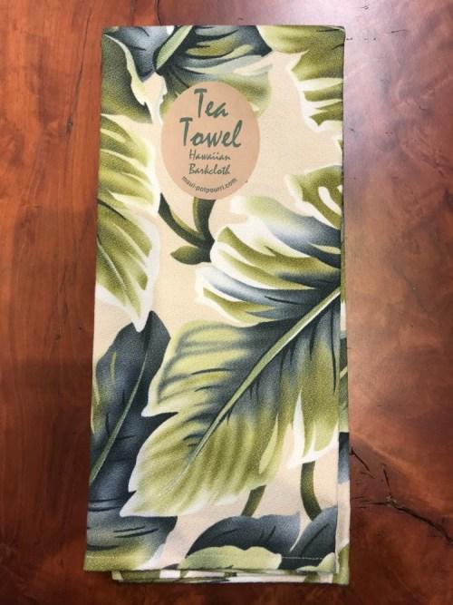 "Maui Potpourri Retro Bark Cloth Tea Towel 28""x17"" (representative) #B"