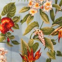 'Blue Ginger' Maui Potpourri Retro Bark Cloth (representative)