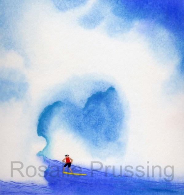 Rosalie Prussing Surfs Up - Hawaii, Giclee Print