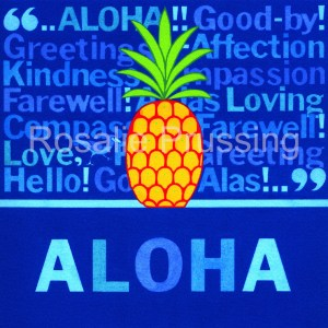 "Rosalie Prussing Aloha Pineapple 6""x6"", overall 8""x8"""