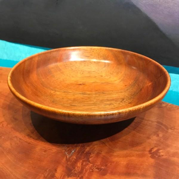 "John Berthiaume Koa Bowl & Milo Foot 2.5""H x 8""D"