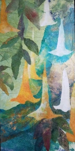 'Angel's Trumpet' by Hiroko Shoultz Print, custom sizes