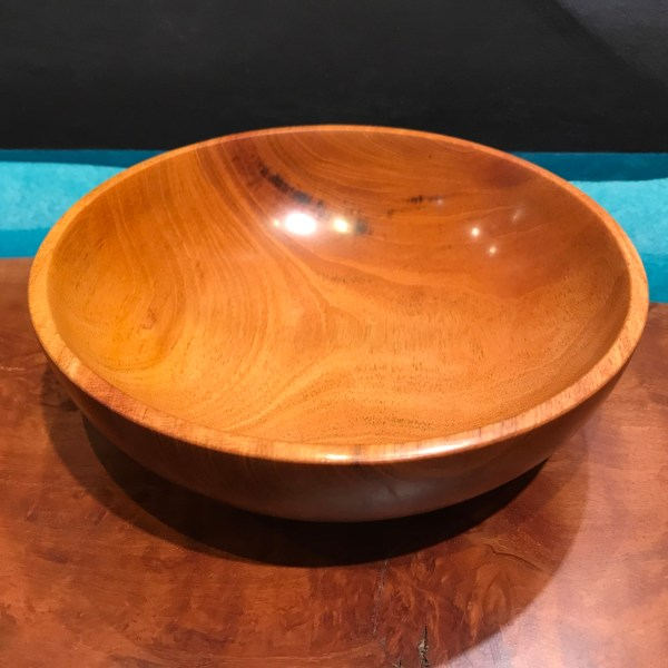 "Cuban Mahogany Bowl by Tom Young 2.25""H x 7""D"